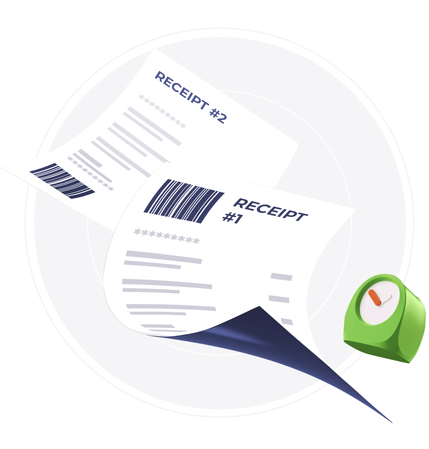 receipt accounting bookkeeping gbr