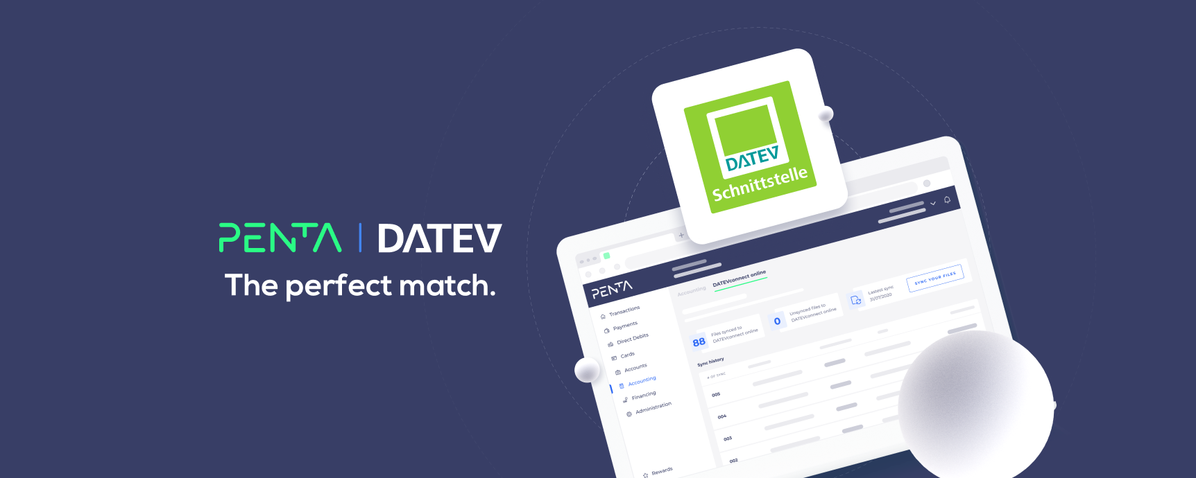 Penta and DATEV connection accounting
